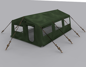 3D model game Army Tent