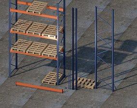 Front rack 5000x2700x1050 mm Shelf 3D model