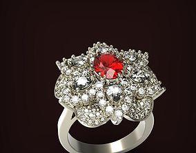 Ring Field flower 3D print model