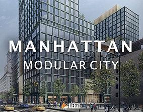 3D model PBR Manhattan - Modular City - All Formats
