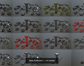 3D model Bolts Collection 1