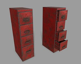 bench 3D asset low-poly Cabinet