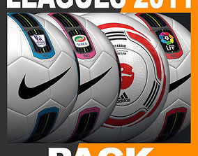 3D model 2010 2011 Leagues Match Balls Pack
