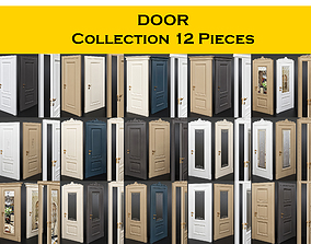 DOOR Collection 12 Pieces 3D model outside
