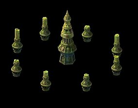 Kashayana Buddha Forest Stone Magic Arrow 01 3D