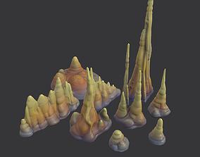 Stylized Stalactites 3D model