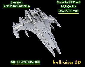Star Trek - JemHadar Battleship - 3D Printable Model