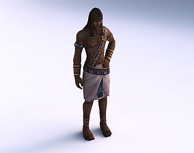 Game ready human character 3D asset animated game