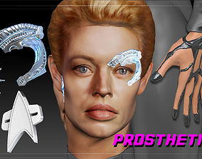 3D print model Star Trek Seven of Nine Borg Implants 4