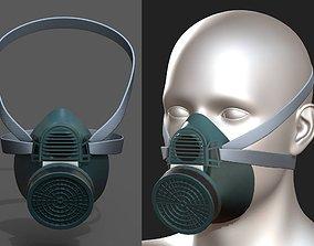 Gas mask respirator plastic futuristic scifi 3D asset