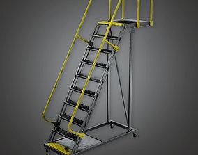 3D asset HLW - Standing Rail Ladder - PBR Game Ready