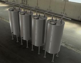 CIP station tanks 3D model