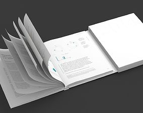Animated Book 3D model