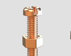 3D printable model M3 Screws and Nuts Set