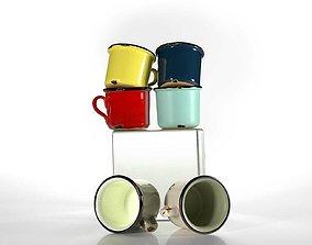 3D Vintage Cups