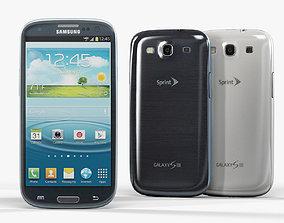 3D model Samsung Galaxy Sprint S III