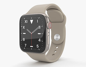 3D Apple Watch Series 5 40mm Titanium Case with Sport Band