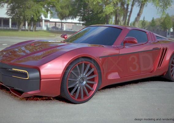 Retrodesign concept car project