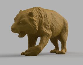3D print model tigre savane