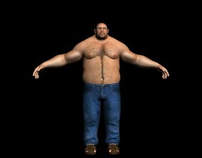 3D model Male fat realistic rigged