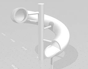 3D printable model Simple water slide design