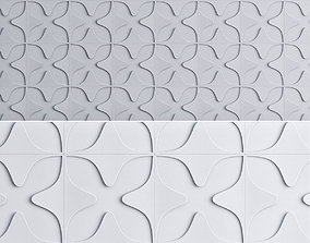 low-poly 3d wall panel decoration low poly 3d model