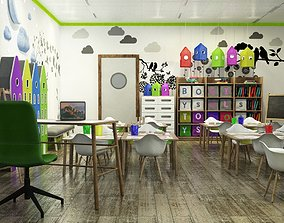 3D model childrens classroom