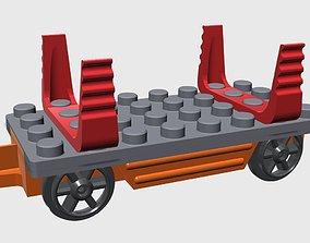 3D printable model Duplo Train Platform with lumber