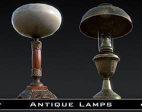 Antique Lamps 3D model realtime