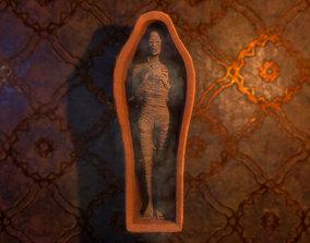 3D model Mummy and Sarcophagus Pack PBR