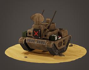 3D asset stylized anti-aircraft vehicle