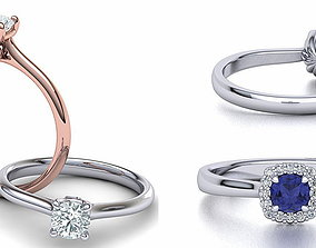 3D model collection Double ring