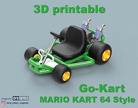 Mario Kart 64 Style Go-Kart - For San-Ei 3D print model 3