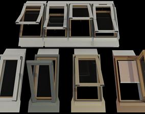 Skylights Roof windows 3D model