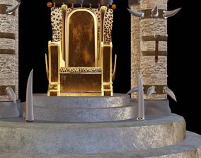 African Fantasy throne 3D asset