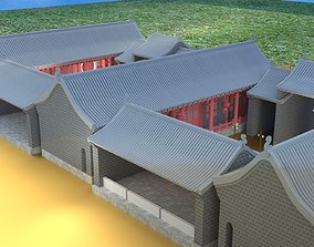 3D Chinese courtyard house orient