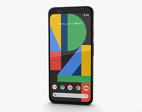 3D Google Pixel 4 Clearly White
