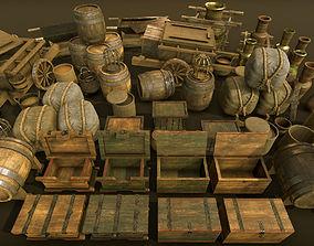 3D asset High-quality medieval props Big