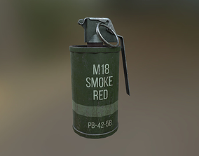 3D model M-18 Smoke Grenade USA Midpoly PBR
