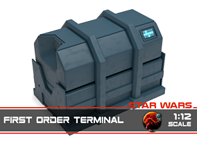 3D print model Star Wars - First Order Terminal 1-12 scale