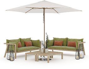 3D model Prestoria Umomoku Outdoor Lounge Set 02