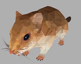 3D model Sand Mouse Low Polygon Art Animal maus