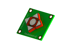 3D printable model Module PCB Keyboard 4 Arrow 1 Central 1
