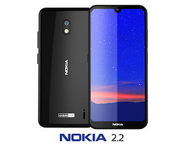 3D model Nokia 2 2 Tungsten Black