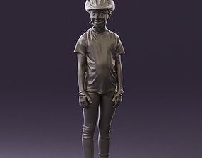 Young girl in bikerider Suit 0841 3D Print Ready