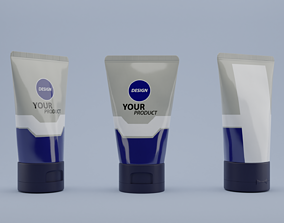 3d base face wash packaging cosmetic rigged