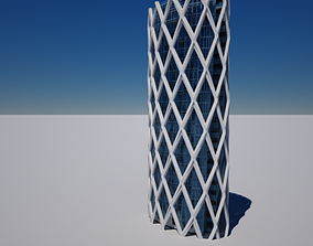 game-ready 3D architecture International Plaza 3d modeling