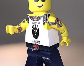 3D asset Lego tattoo man