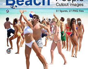 Beach Resort People Cutout Images 3D model
