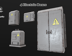 Electric Boxes Collection 3D asset